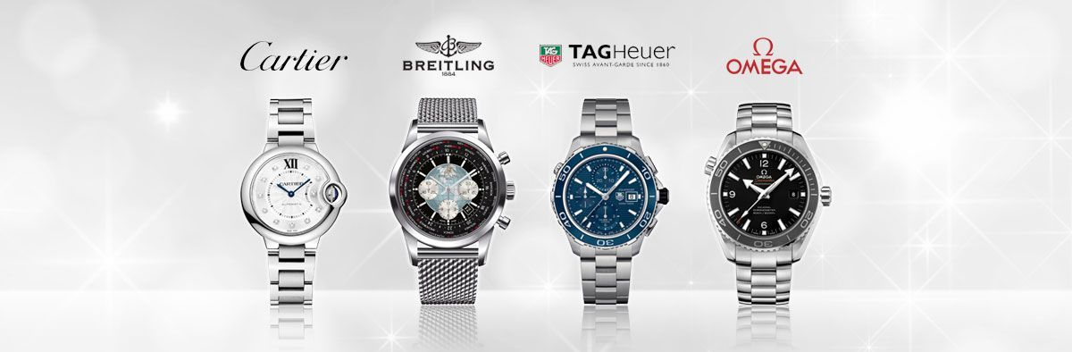 Luxury watch brands such as TAG Heuer, Omega, Breitling and Cartier