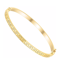 Greek key bangle