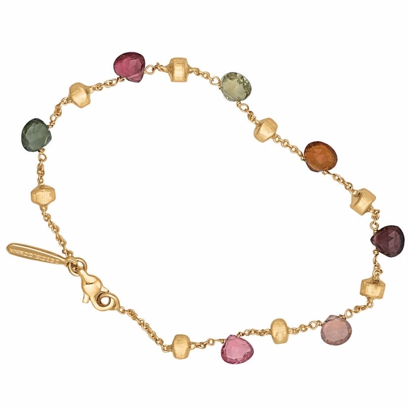Marco Bicego 18ct yellow gold multi stone bracelet