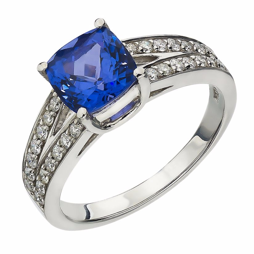Le Vian 14ct Vanilla Gold tanzanite & Vanilla Diamond ring