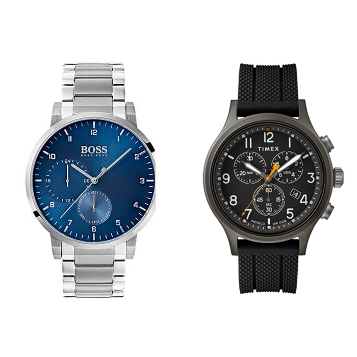 An image of Hugo Boss and Timex Men's Watches