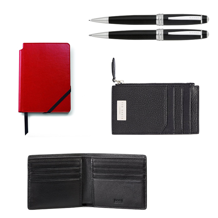 An image of pens and wallets by Cross