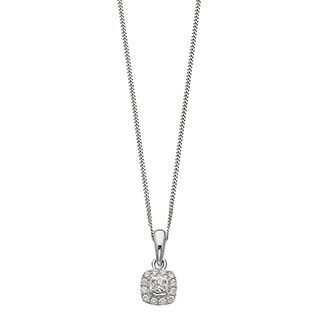 Leo Diamond 18ct white gold 0.20ct I-I1 pendant