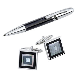 Men's Simon Carter pen and cufflink - executive gift set