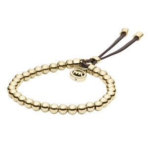 Yellow gold-plated bead bracelet
