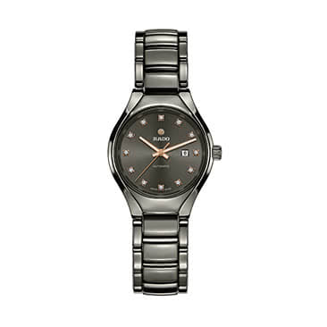 Rado True Automatic Ladies' Grey Ceramic Diamond Watch
