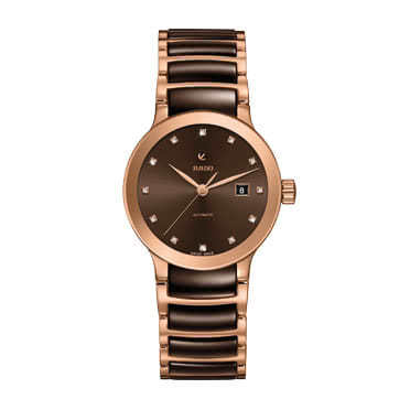 Rado Ladies' Centrix Two Colour Cermaic Bracelet Watch