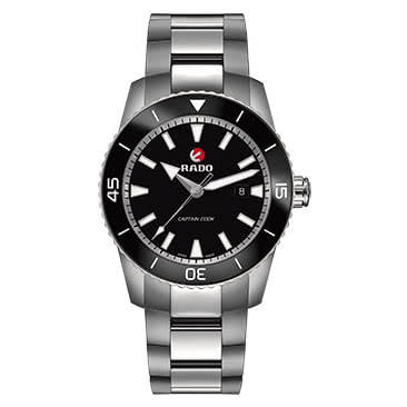 Rado Captain Cook Men's Stainless Steel Black Watch