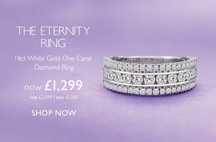 Eternity rings 18ct White Gold One Carat Diamond Ring - Buy now