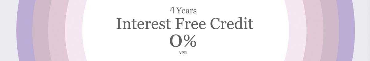 4 years Interest Free Credit 0% APR  - shop now