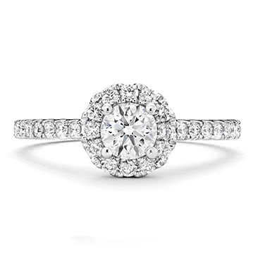 Tolkowsky 18ct White Gold 0.77ct I-I1 Diamond Halo Ring