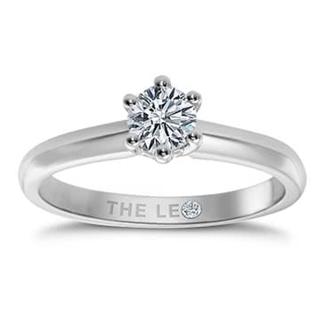 Leo Diamond 18ct White Gold 1/2ct I-I1 Solitaire Ring