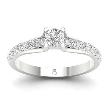 The Diamond Story Platinum 3/4ct Solitaire Diamond Ring