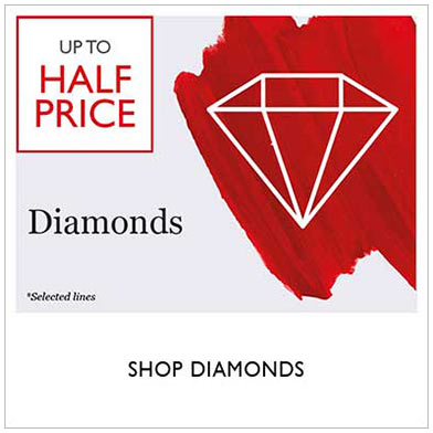Up to half price diamond sale - shop sale