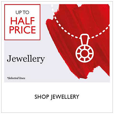 Up to half price jewellery sale - shop sale