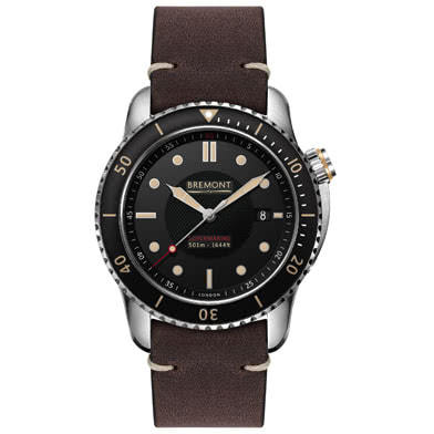 Bremont Supermarine S501 Men's Brown Rubber Strap Watch