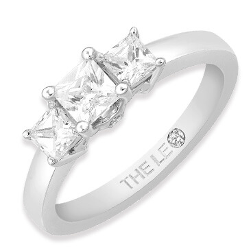 The Leo Diamond three stone rings
