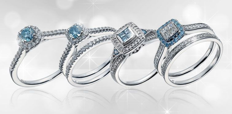 Find a range of diamond engagement rings and bridal sets set with stunning blue stones at Ernest Jones