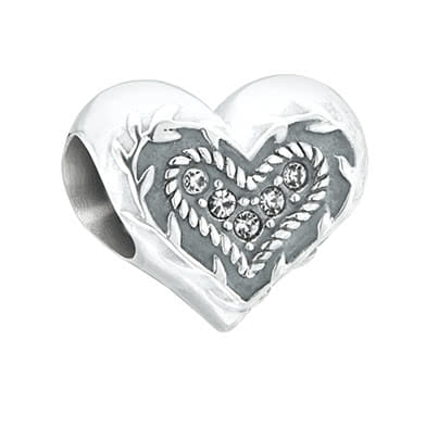 Chamilia Sterling Silver Mum Heart Bead