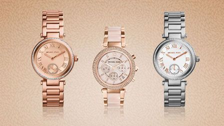 Designer jewellery and watches from iconic fashion brands such as Michael Kors, DKNY and Gucci