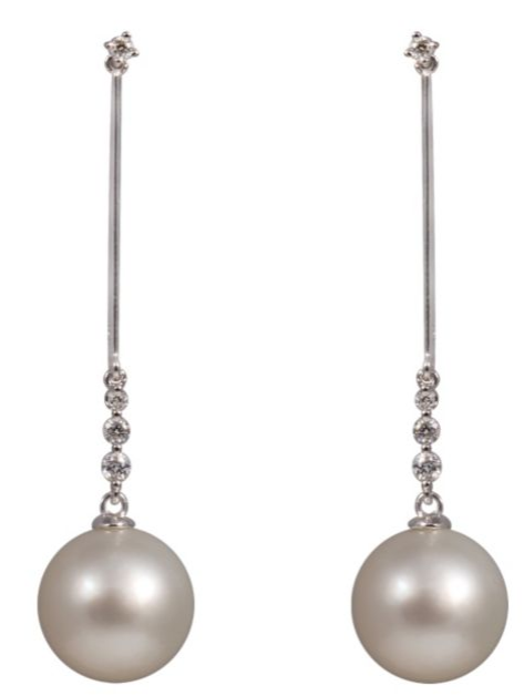 Yoko London 18ct white gold South Sea pearl diamond earrings