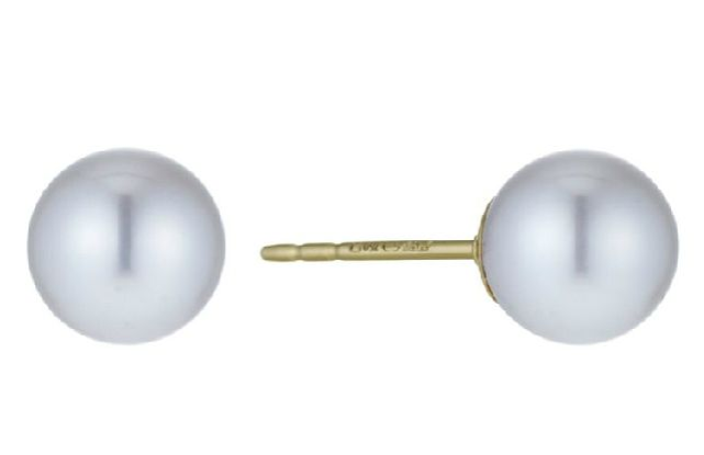 18ct Gold Cultured Pearl 8-8.5mm Earrings