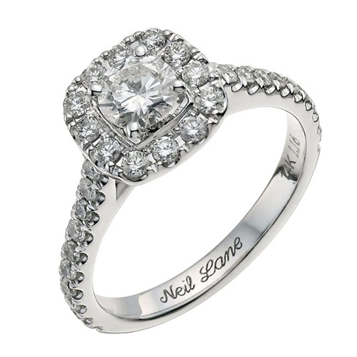 A popular Neil Lane Halo Engagement Ring