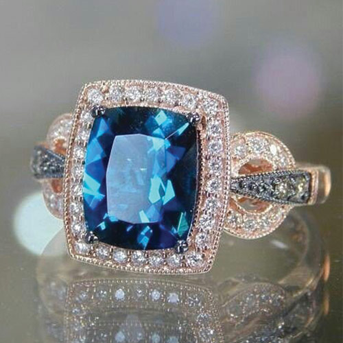 An Iconic Le Vian Aquamarine Engagement Ring