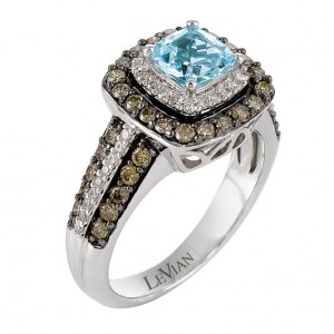 Le Vian® ring with aquamarine stone