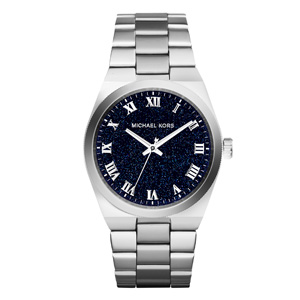 Micheal Kors ladies watch with sparkle dial and stainless steel bracelet