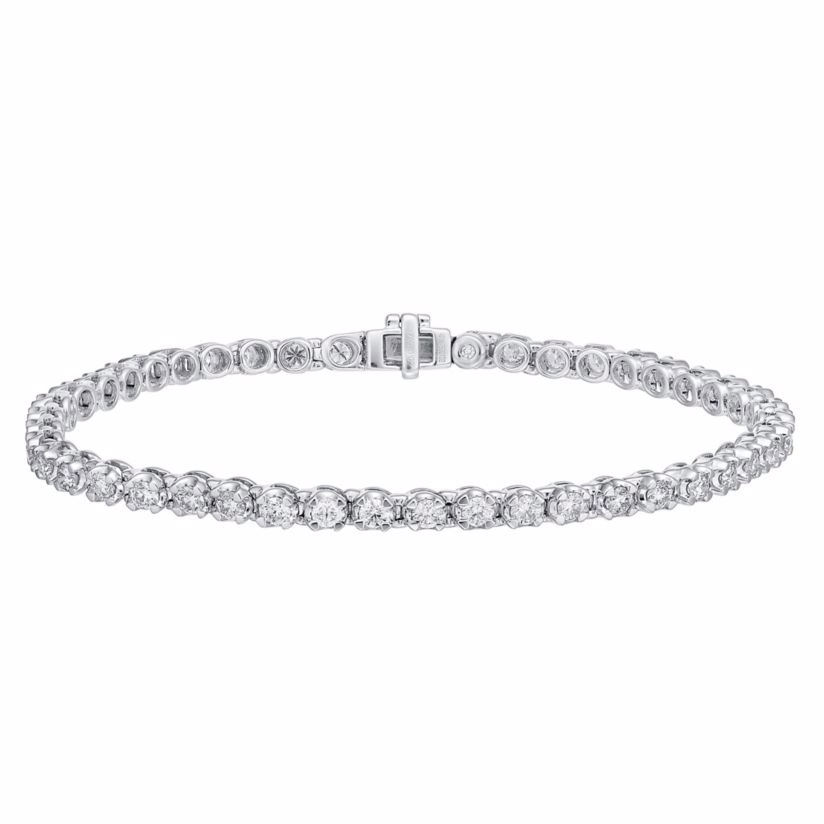 18ct white gold 3ct I1 certificated diamond bracelet