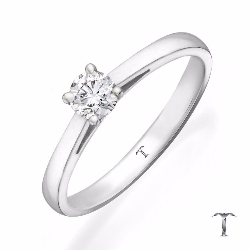 Tolkowsky 18ct White Gold 0.25ct I-I1 Diamond Ring