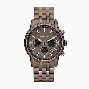 Brown watch with metal strap