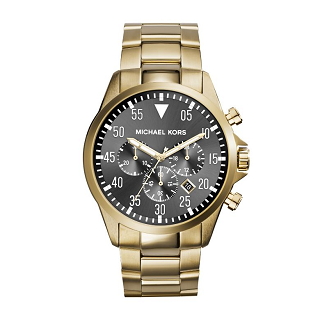 Gents gold plated bracelet watch