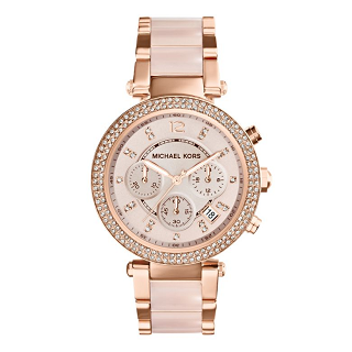 ladies rose gold plated watch