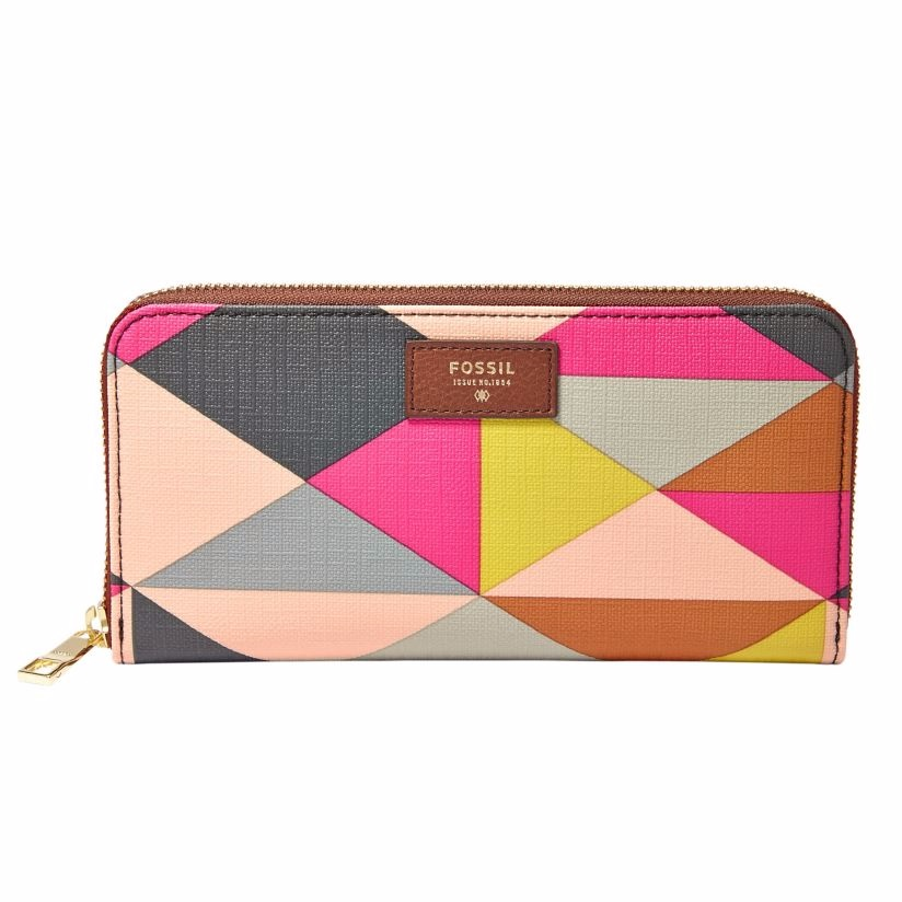 Fossil Sydney ladies' printed leather clutch bag