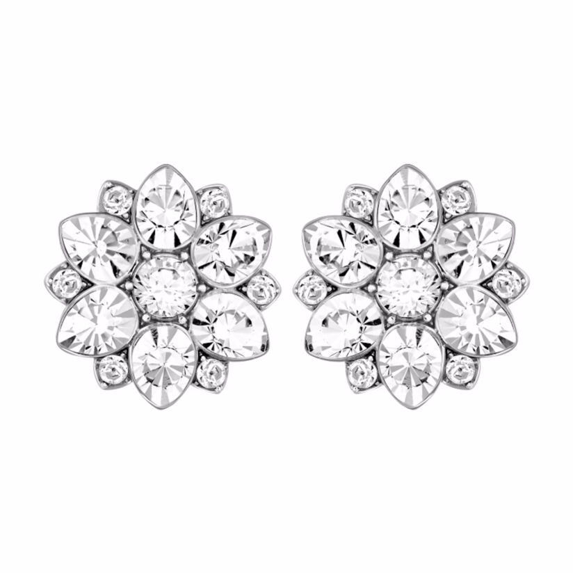Swarovski flower stud earrings