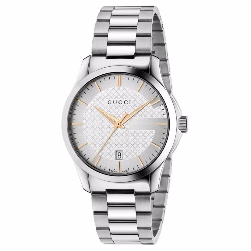 Gucci G-Timeless men's stainless steel bracelet watch