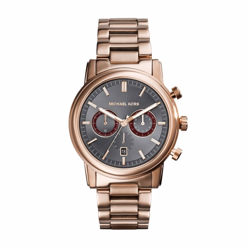 Michael Kors Men's Rose Gold Tone Bracelet Watch