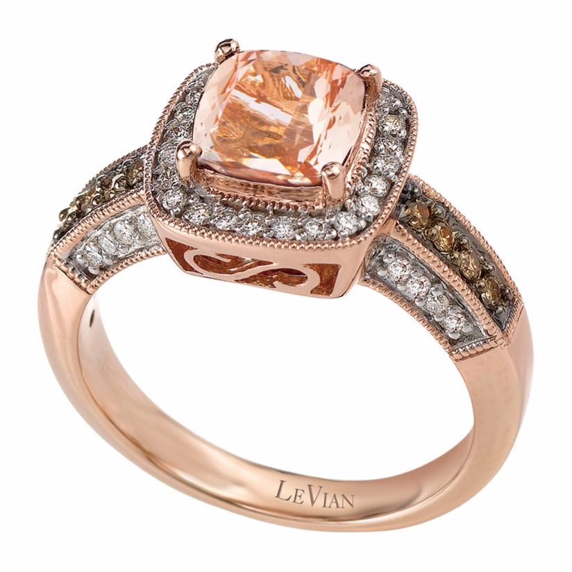 Le Vian 14ct Strawberry Gold and Peach Morganite ring