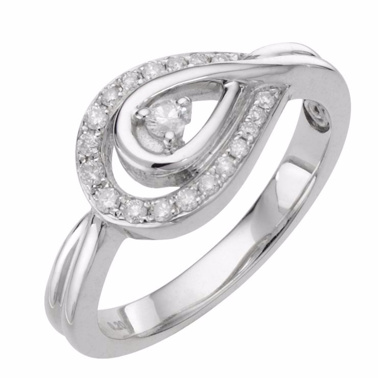 Love's embrace sterling silver diamond icon ring