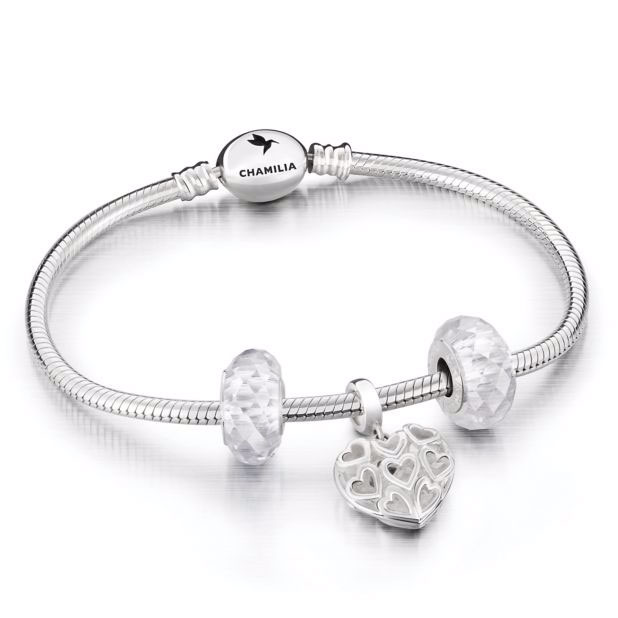 Chamilia Sterling Silver Caged Heart Gift Set