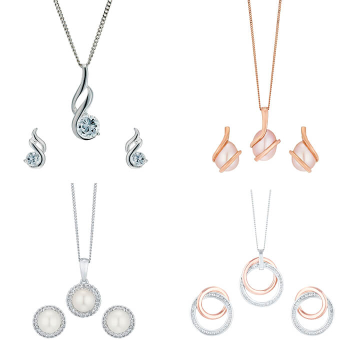 Matching jewellery sets with Cubic Zirconia