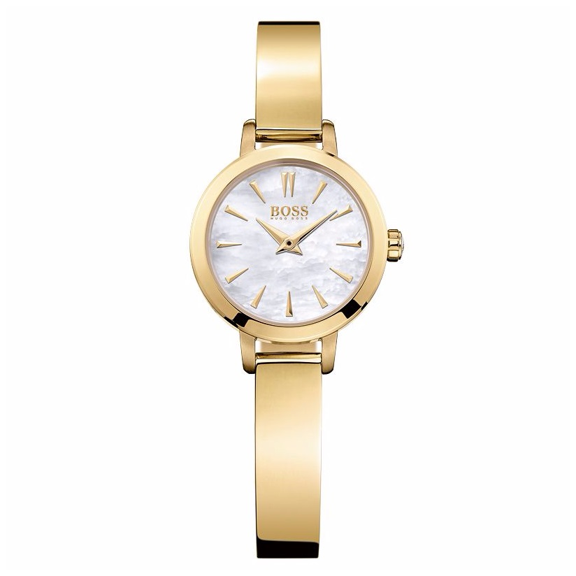 Hugo Boss ladies' gold plated bangle watch