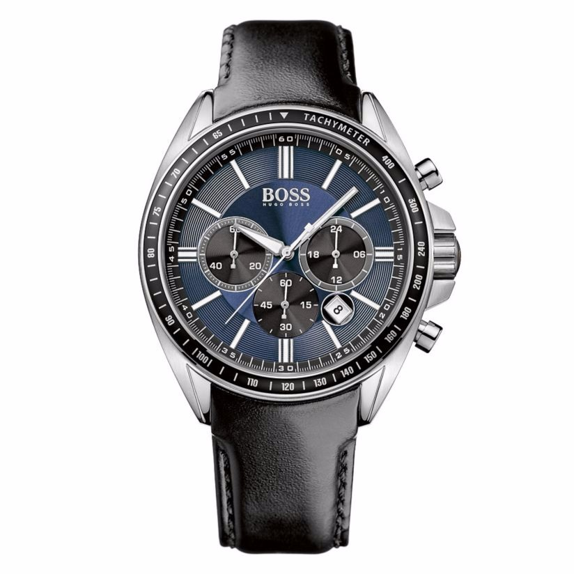 Hugo Boss men's stainless steel blue dial strap watch