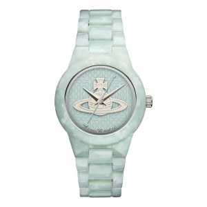 Light bue paste Viviene Westwood brand watch