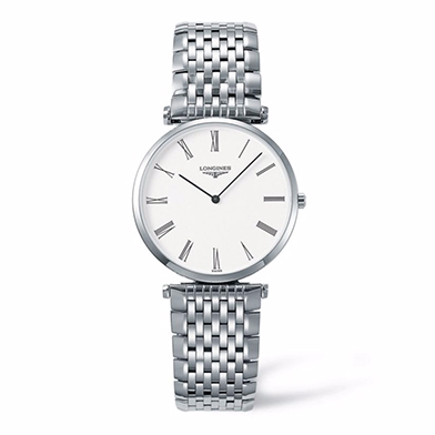 Longines La Grand Classique men's white dial bracelet watch