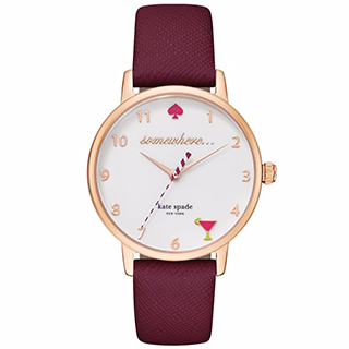 Kate Spade Metro Ladies' Rose Gold Tone Strap Watch