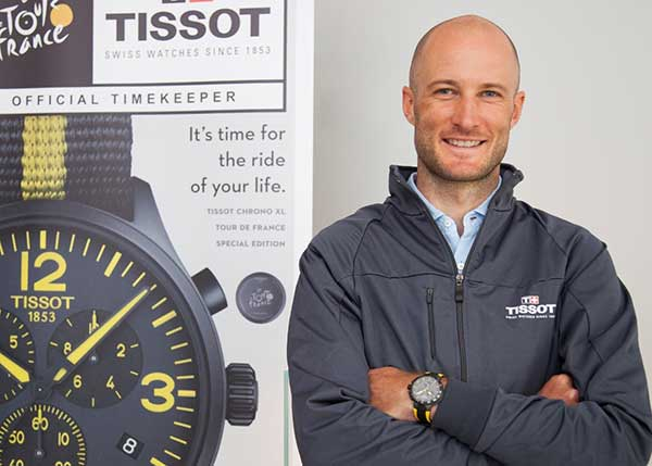 2 time stage winner of Tour de France Steve Cummings wearing a Tissot watch