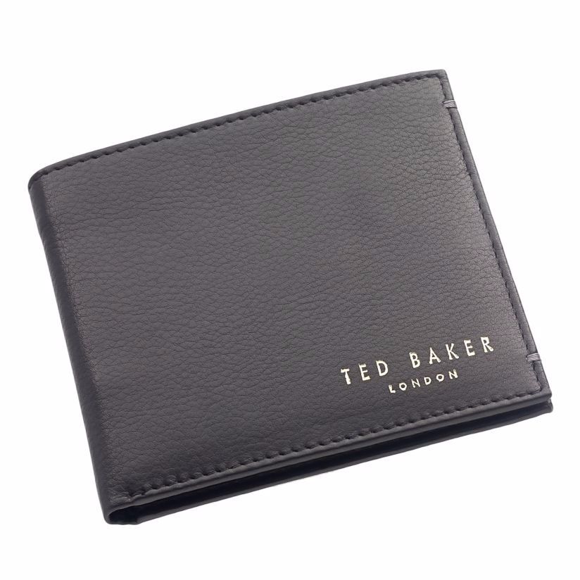 Ted Baker Antonys black bi-fold leather wallet